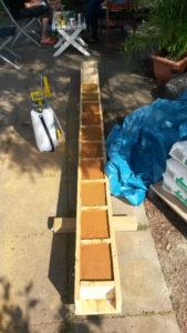 Bau der Wasserwand